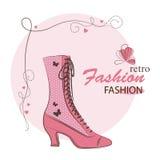 Retro woman shoes. Stock Photos