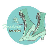 Retro woman shoes. Royalty Free Stock Photography