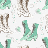 Retro woman shoes. Royalty Free Stock Images