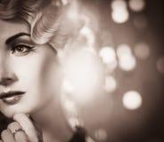 Retro woman Royalty Free Stock Photo