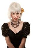 Retro woman with white hair Royalty Free Stock Photos