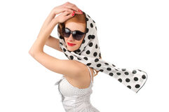 Retro woman Stock Image