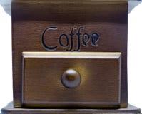 Retro wood ask av kaffebönan Royaltyfria Foton