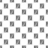 Retro wood calculator pattern seamless vector illustration