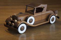 Retro wood car Stock Photography