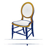 Retro wood chair Stock Images