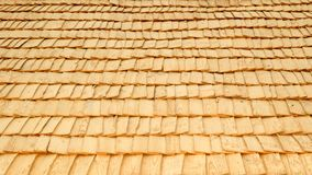 Retro wood-chip roof Stock Photo