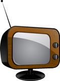 Retro wood veneer tv Stock Photo