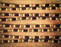 Retro wooden beads on a wooden board Stock Images