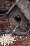 Retro wooden birdhouse Stock Image
