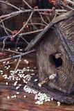 Retro wooden birdhouse Stock Photography