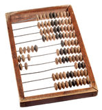 Retro wooden  abacus on white background  Royalty Free Stock Photography