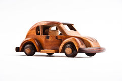 Retro wooden car model Stock Images