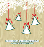 Retro wooden Christmas background Royalty Free Stock Photo