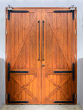 Retro wooden door Stock Photo