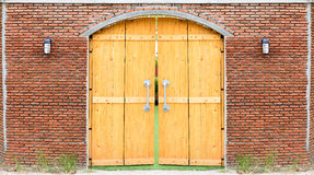 Retro wooden door Royalty Free Stock Photo