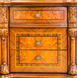 Retro wooden drawer Stock Image