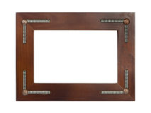 Retro wooden frame Stock Photography