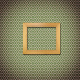 Retro wooden frame on wall Royalty Free Stock Photo