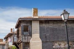 Retro wooden houses Stock Photo