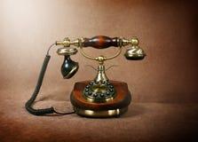 Retro wooden phone Royalty Free Stock Photo