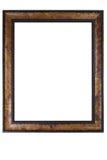 Retro wooden photo frame Royalty Free Stock Photo