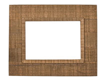 Retro wooden picture frame Stock Photo