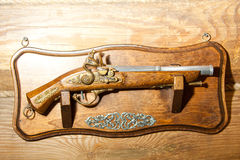 Retro wooden pistol Royalty Free Stock Images