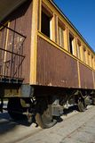 Retro wooden railway carriage at old station of Tel Aviv. Royalty Free Stock Image