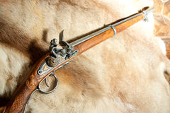 Retro wooden rifle Stock Photos