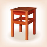 Retro wooden stool Stock Images