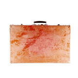 Retro wooden suitcase. Royalty Free Stock Photography