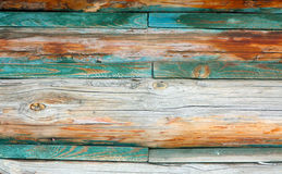 Retro wooden texture. The wall of the old boards. Abstract background. Stock Photos