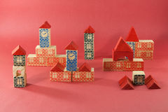 Retro wooden toy Royalty Free Stock Image