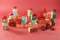 Retro wooden toy Stock Photos