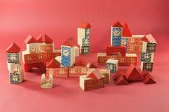 Retro wooden toy Stock Photo