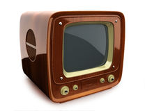Retro wooden TV Royalty Free Stock Photography