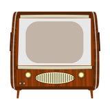 Retro wooden tv. Royalty Free Stock Photos