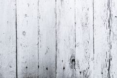 Retro wooden wall whitewash lime, modern style, weathered cracky messy dust wooden backdrop, knots and nails, vintage background f Royalty Free Stock Photo