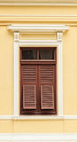 Retro Wooden Window with shutters Stock Photos