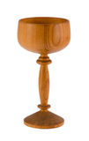 Retro wooden wineglass tumbler isolated on white. Background Stock Image
