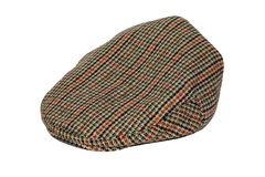 Retro Wool tweed gentleman's cap isolated Royalty Free Stock Images
