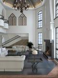 Retro woonkamer binnenlands ontwerp Royalty-vrije Stock Foto's