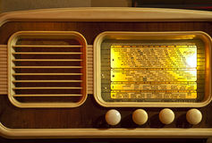 Retro  working radio  second world war Royalty Free Stock Images