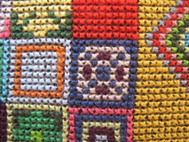 Retro workmanship embroiderers Royalty Free Stock Photo