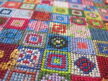Retro workmanship embroiderers Stock Images