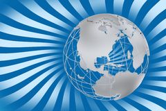 Retro World Map Royalty Free Stock Photography