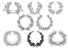Retro wreathset Royalty Free Stock Photo