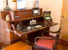 Retro writing table Stock Photo