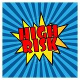 Retro wysokiego ryzyka komiczni mowa b?ble na Wektorowej ilustracyjnej rocznika projekta wystrza?u sztuce projektuj? ilustracji